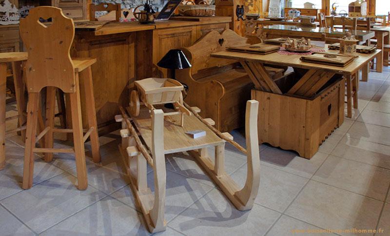 table basse luge bois. Black Bedroom Furniture Sets. Home Design Ideas